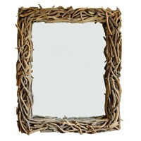English Contemporary Rectangular Driftwood Mirror