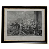 French Black & White Neo-Classical Engraving