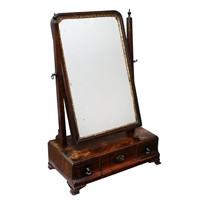George II Transitional Mahogany Toilet Mirror