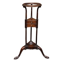 English George III Mahogany Wig/Wash Stand