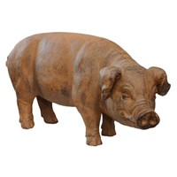 Finely Modelled Faux Terracotta Pig