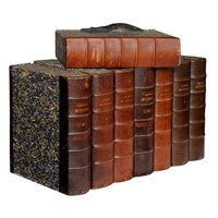 Set of Eight French Leather Bound Folio Cases
