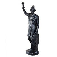 Large English Regency Faux Bronze Plaster Figure