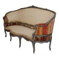 Large French Louis XV Period Painted Sofa