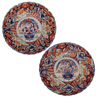 Pair of Early 19th Century Imari Arita Chargers