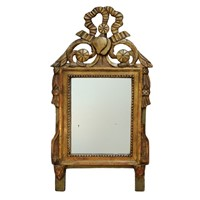 Small Louis XVI Carved Giltwood & Painted Mirror