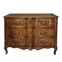 French Louis XV Period Provincial Walnut Commode