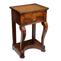 Small Mahogany Empire Tray Top Console Table