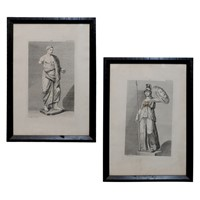 Pair of French Neo Classical Engravings