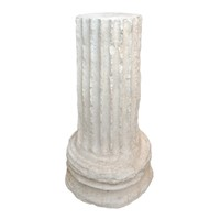Plaster of Paris Fluted Neo-classical Column