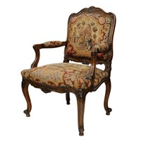 Louis XV Style French Fauteuil (Open Armchair)