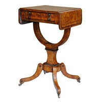 English Regency Burr Oak Side Table