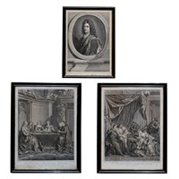 Group of Three French Black & White Engravings