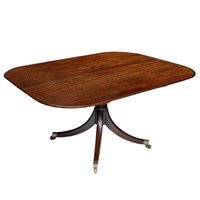 Large English Regency Mahogany Breakfast Table