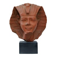 French Faux Terracotta Egyptian Pharaoh Ramesses V