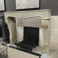 18th century rustic sandstone fireplace