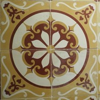 Early 20th century cement tiles with pattern