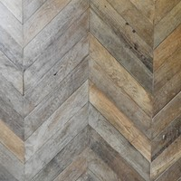 Antique chevron pattern flooring