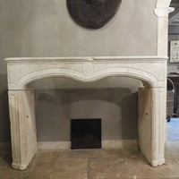 Limestone Louis XV Fireplace