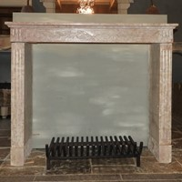 Antique Louis XVI Fireplace In Stone From Burgundy