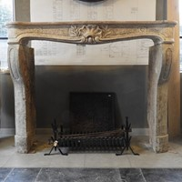 Early 19th Century LImestone Louis XV Fireplace