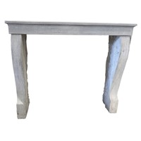 Small 19th Cantury Limestone Fireplace Mantle