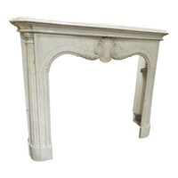 Carrara Marble Fireplace From The 1920's