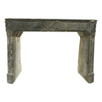 18th Century Fireplace Mantle  Original Paint