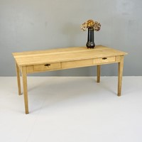 Stripped Oak Writing Table