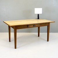 Stripped Oak Top Dining / Writing Table