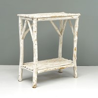 White Painted Stick Side Table