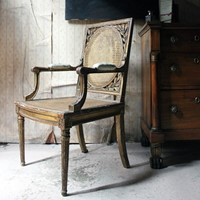 Fine French Carved Giltwood Open Armchair c.1880