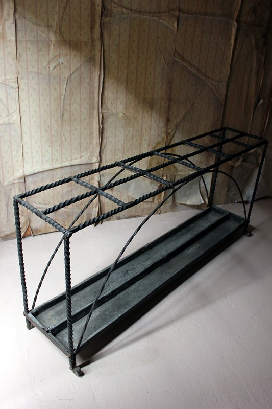 Large 19thC Country House Wrought Iron Stick Stand-doe-and-hope-largeironstickstand22-main-636669095888016900.jpg