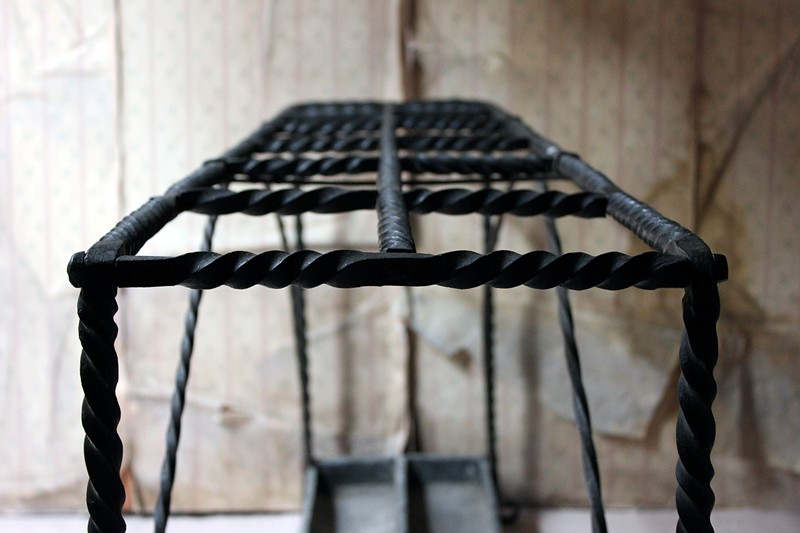 Large 19thC Country House Wrought Iron Stick Stand-doe-and-hope-largeironstickstand6-main-636669092244762076.jpg