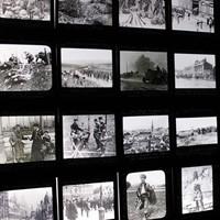 Light-Box Framed Lantern Slides of WWI Interest