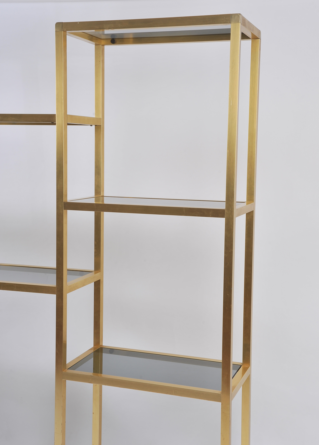 Affordable Zoom Large French S Brass Bookcase Or With Etagere Decorative