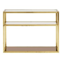 Mid-Century Brass Three-Tiered Console Table
