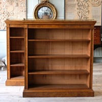 George IV Pollard Oak Open Bookcases