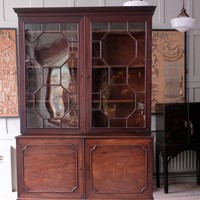A 18th Century Astral Glazed Bookcase