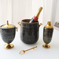 Italian Goatskin Drinks Set by Aldo Tura