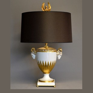 Single Furstenberg Ramshead bowl mounted as lamp