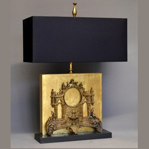 Antique clock front mounted as lamp