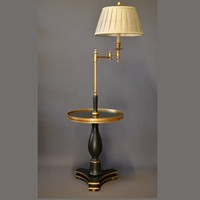 Bespoke floor lamp incl table: ANGLAIS