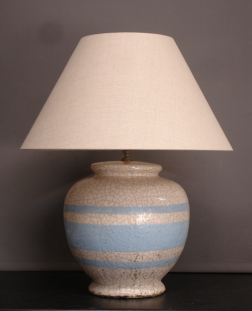 Creme craquel vase lamp. 6 available.-empel-collections-Belgian craquel vase lamp-001_main.JPG
