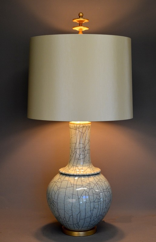 Pair,  Mid-century style celadon craquel lamps-empel-collections-Celadon craquel vase as lamp lights on-001-main-636586068097689126.JPG