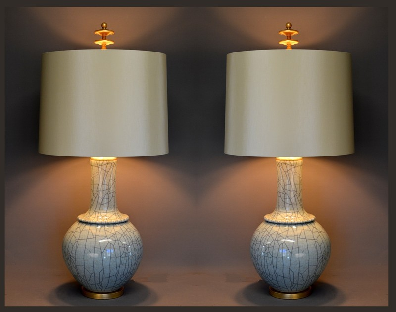 Pair,  Mid-century style celadon craquel lamps-empel-collections-Celadon craquel vase as lamp lights on-main-636586067857436806.jpg