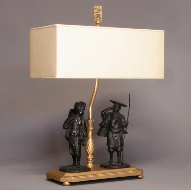Chinoiserie figurines mounted as table lamp-empel-collections-Chinoiserie figurines mounted as lamp.-002_main.JPG