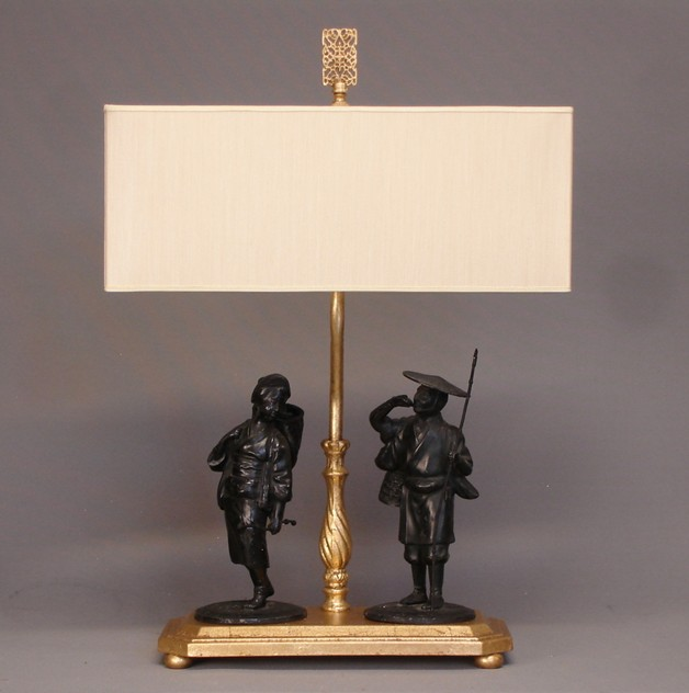 Chinoiserie figurines mounted as table lamp-empel-collections-Chinoiserie figurines mounted as lamp._main.JPG
