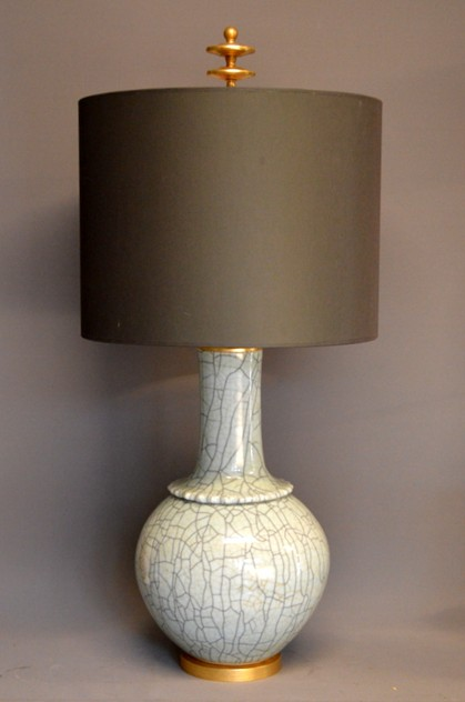 Pair,  Mid-century style celadon craquel lamps-empel-collections-Large celadon vases as lamps_main_636558645897944060.JPG