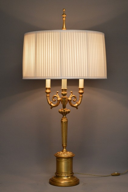 Bespoke gilded bronze bouillotte lamp 'LONDON'-empel-collections-London bouillotte lamp knife pleat shade-001_main_636312560780062466.JPG